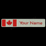 Canadian Flag & Name